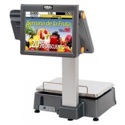 Ζυγός Ετικέτας με Οθόνη Διαφήμισης DIBAL D955-30kg