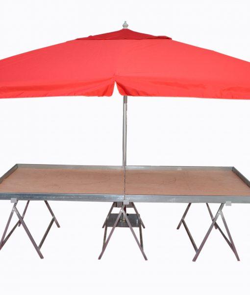 Πάγκος Λαϊκών Αγορών με ομπρέλα