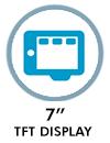 7″ TFT display
