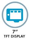 """7"""" TFT display"""